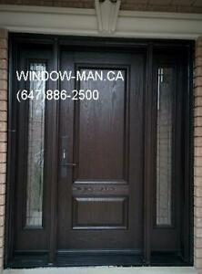 Entry Door Fiberglass Exterior Replacement  contemporary or trad