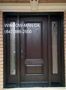 Fiberglass Entry Door Exterior Replacement  Installed