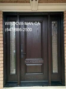 Fiberglass Exterior Door Entry Replacement  Custom