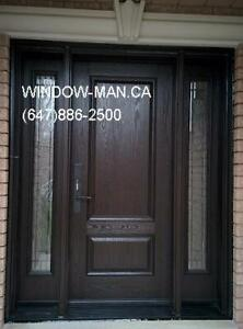 Fiberglass Entry Replacement Exterior Door  supplier and install