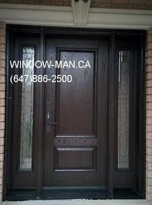Door Fiberglass Entry Exterior Replacement  many styles