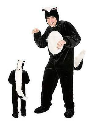 Skunk Animal Forest Pepe Black White Cute Dress Up Halloween Adult Costume - Skunk Halloween Costumes