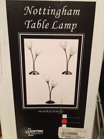 Table Lamp, Nottingham style. New, still in box.