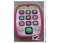 Pink Vtech tiny touch tablet