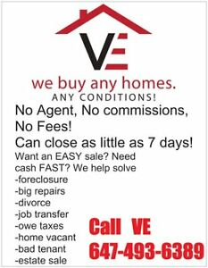 We Buy ANY properties in ANY situations for CASH Fast!