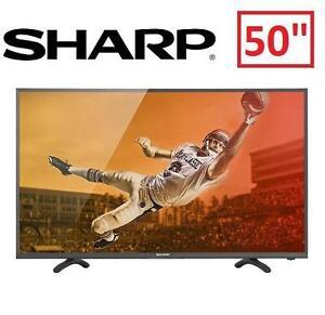 "REFURB SHARP 50"" 1080P LED TV - 107745771 - 50 INCH TELEVISION - HDTV HOME THEATRE"