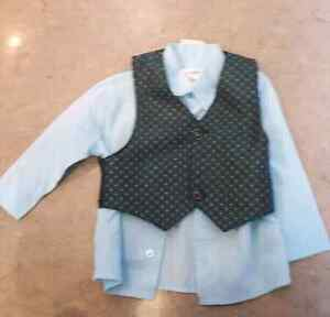 Baby Dress Shirt and Vest