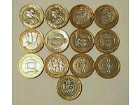 Collectable 2 pound coins