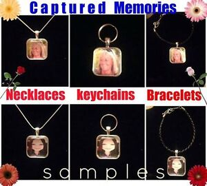 hand made  memorial pendants bracelets and key chains