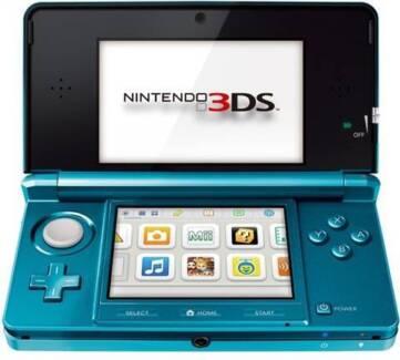 ★Nintendo 3DS Aqua Blue Console, Case & Pokemon SUN Game