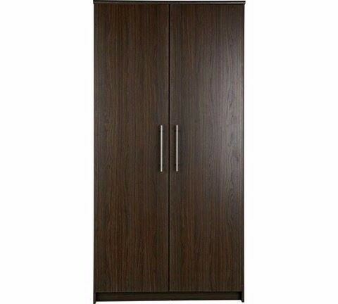HOME Normandy 2 Door Wardrobe - Dark Oak Effect