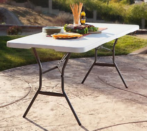 I am looking for one more plastic folding table like the photo..