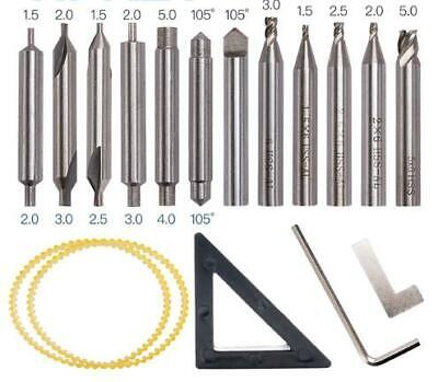 Drill Bits Cutter Set For 368a Locksmith Vertical Key Tool Machine Spare Parts
