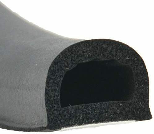 """Ap Products Black 3/4"""" X 1/2"""" Rubber D-seal With Tape Door Window Cover 018-318"""