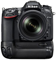 Nikon D7100 camera body with battery grip