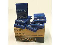 6 x 40min. Sony DV tapes UNUSED