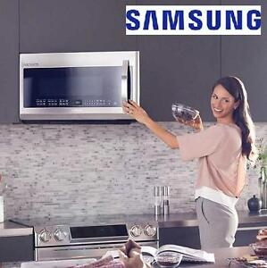 NEW* S OVER-THE-RANGE MICROWAVE - 124646201 - SAMSUNG OVEN STAINLESS STEEL
