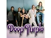 2 lower tier deep purple tickets