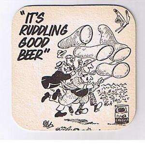 Old Rutland Ruddles Brewery Butterfly Catchers breweriana tegestology beermat
