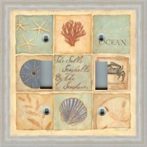Light Switch Plate Outlet Covers Beach Starfish Sand