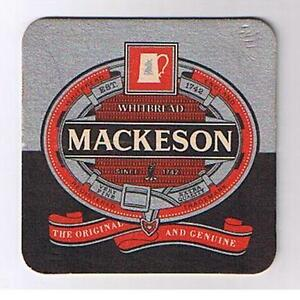 Old Whitbread Mackeson collectable breweriana tegestology beermat