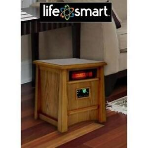 NEW LIFE SMART 1500W HEATER LS-8WIQH-LB-IN 215594386 W/REMOTE 8 ELEMENT ALL WOOD CABINET
