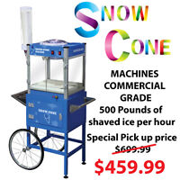 Popcorn, snow cone, sno-cone Machines Commercial Grade NEW