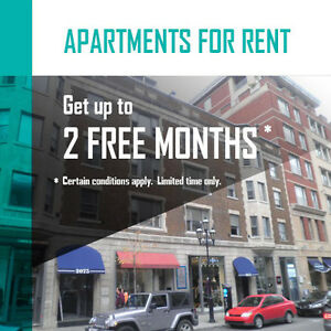 3 bedrooms For rent On De La Montagne Up to 2 FREE MONTHS
