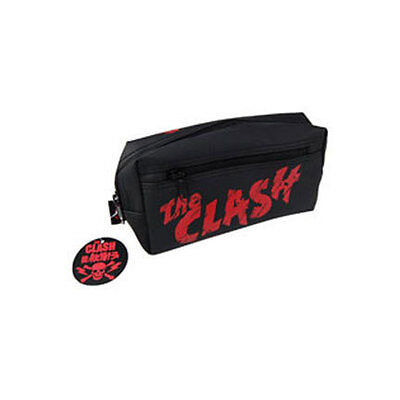The Clash Logo OFFICIAL Rubberised PVC Pencil Case Odds & Sods Make Up Bag