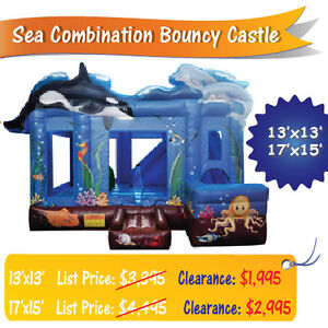 Used Inflatable Bouncy Castles FALL CLEARANCE