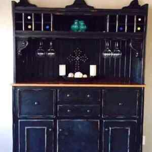Handcrafted hutch buffet table on sale!