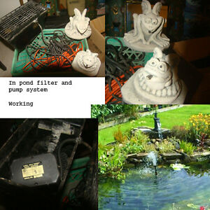 In pond working filter ssytem/pump and  accessories