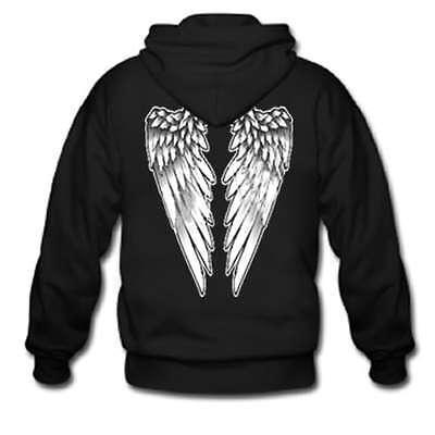 Angel Wings Winged Hoodie Hooded Sweatshirt Plain Front Angel Wings Hooded Sweatshirt
