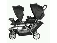 Graco double pram pushchair buggy for sale