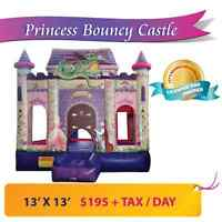 $195+TAX / day Princess Bouncy Castle Rental