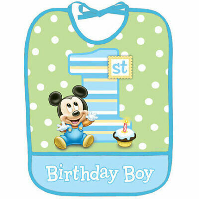 Mickey Mouse 1st Birthday Bib (Mickey Mouse 1st Birthday Bib)