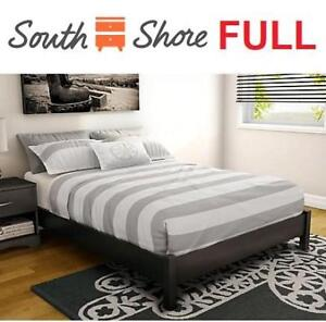 NEW* SOUTH SHORE FULL PLATFORM BED 3070204 224503224 STEP ONE PURE BLACK 54""