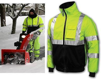 - High Visibility Class 3 Safety Bomber Jacket With Zip-Out Fleece Lining