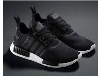 Men's adidas NMD trainers black & white size 9 UK - SALE