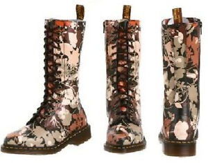 Dr. Martens Women's 1B99 Cerys Floral Jungle Boot 14 eye US 8 EU 39 UK 6