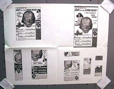 Sheet of Ads REVENGE of LIVING DEAD w/ CURSE & FANGS