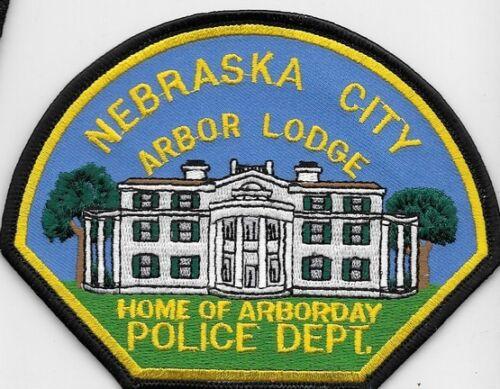 NEBRASKA CITY NEB NE POLICE DEPT ARBOR LODGE  HOME OF ARBOR DAY NPD CPD PD