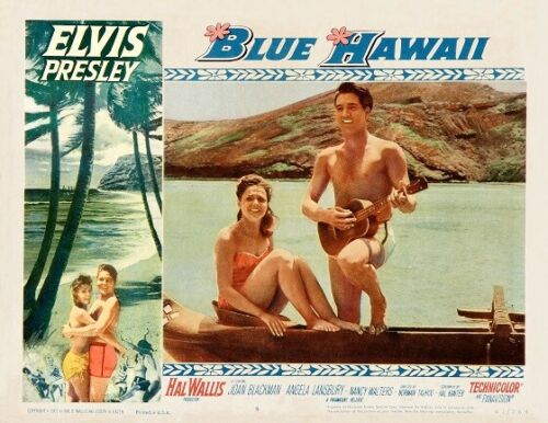 ELVIS PRESLEY Playing to JOAN BLACKMAN In BLUE HAWAII  11x14 LC Print 1961