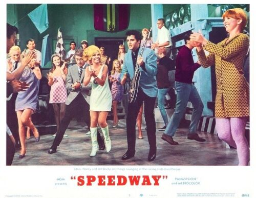 ELVIS PRESLEY With NANCY SINATRA BILL BIXBY for SPEEDWAY 11x14 LC Print 1968