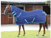 """Shires Tempest 300g Horse Stable Combo Rugs in three different sizes 6'3"""", 5'9"""", 5'6"""" Navy Blue"""