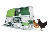 Omlet Eglu Go Up new with starter pack and chickens