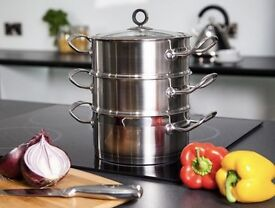 Morphy Richards 'Accents Range' Stainless Steel Complete Pan Collection - Boxed As New