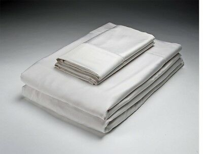 NEW Home Source WHITE QUEEN Bed 250 Thread Count Bamboo Flat & Fitted Sheets Set for sale  Shipping to India