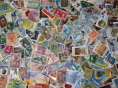 10,000 British Commonwealth Stamps ~ Kiloware Mixture ~ 1KG Stamps