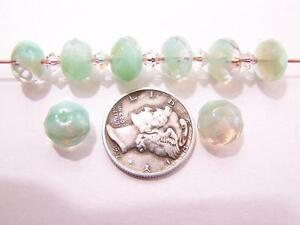 6-CRYSTAL-SEA-PUFFY-RONDELLE-6X9MM-GLASS-BEADS